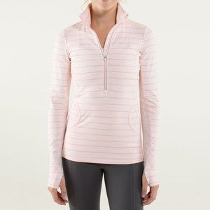 Lululemon Pink Lace Star Runner 1/2 Zip Pullover 6